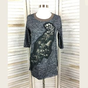 Free People Open Embroidery Tunic Sz S